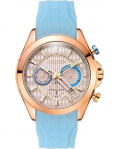 BREEZE 110801.7 Ferosh Dual Time Light Blue Silicone Strap