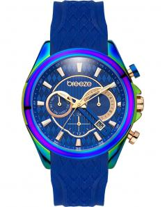 BREEZE 110801.3 Ferosh Dual Time Blue Silicone Strap