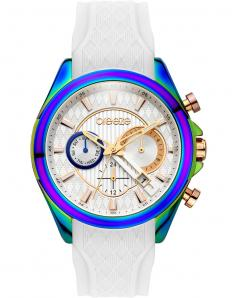 BREEZE 110801.1 Ferosh Dual Time White Silicone Strap