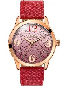BREEZE 110761.7 Jeanious Swarovski Red Combined Materials Strap