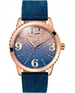 BREEZE 110761.3 Jeanious Swarovski Blue Combined Materials Strap