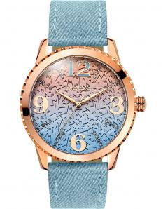 BREEZE 110761.1 Jeanious Swarovski Light Blue Combined Materials Strap