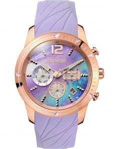 BREEZE 110781.5 Selena Dual Time Purple Silicone Strap
