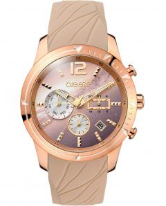 BREEZE 110781.4 Selena Dual Time Brown Silicone Strap