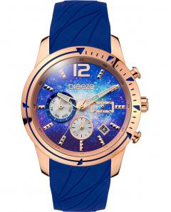 BREEZE 110781.3 Selena Dual Time Blue Silicone Strap