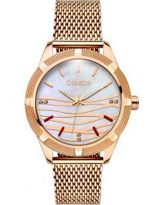 BREEZE 210651.6 Felicity Crystals Rose Gold Stainless Steel Bracelet