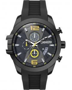 BREEZE 110712.8 Cruzer Dual Time Black Silicone Strap