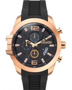 BREEZE 110712.7 Cruzer Dual Time Black Silicone Strap