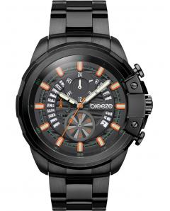 BREEZE 810742.2 Artisan Chronograph Black Stainless Steel Bracelet