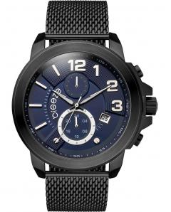 BREEZE 810732.3 Hommage Dual Time Black Stainless Steel Bracelet