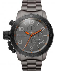 BREEZE 810702.6 Hyperion Dual Time Grey Stainless Steel Bracelet
