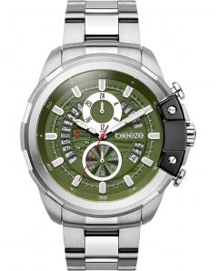 BREEZE 610742.5 Artisan Chronograph Silver Stainless Steel Bracelet