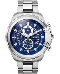 BREEZE 610742.3 Artisan Chronograph Silver Stainless Steel Bracelet