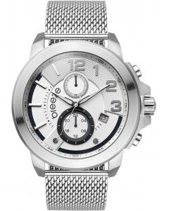 BREEZE 610732.1 Hommage Dual Time Silver Stainless Steel Bracelet
