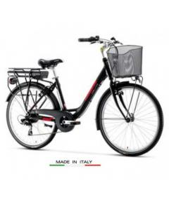 Lombardo Levanzo City E Bike 26 Black Red