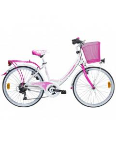 Lombardo Rimini 24 City 6 speed White Fuchsia Glossy