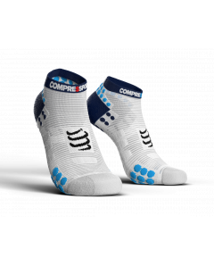 COMPRESSPORT V3 LO RUN PRO RACING SOCKS -Ασπρη  Μπλε