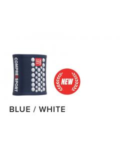 Compressport Wrist band ΜΠΛΕ ΑΣΠΡΟ