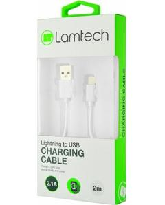 LAMTECH DATACABLE iPhone 567 2m non MFi - WHITE