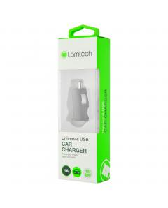 LAMTECH SINGLE USB CAR CHARGER 1A BLACK