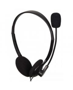 GEMBIRD STEREO HEADSET WITH VOLUME CONTROL BLACK