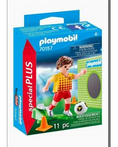 PLAYMOBIL Special Plus Football Player with Goal Wall 70157