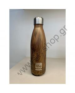 ECO LIFE WOOD 500ML THERMOS