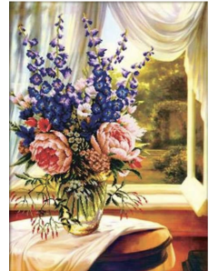 Floral vase dy the Window