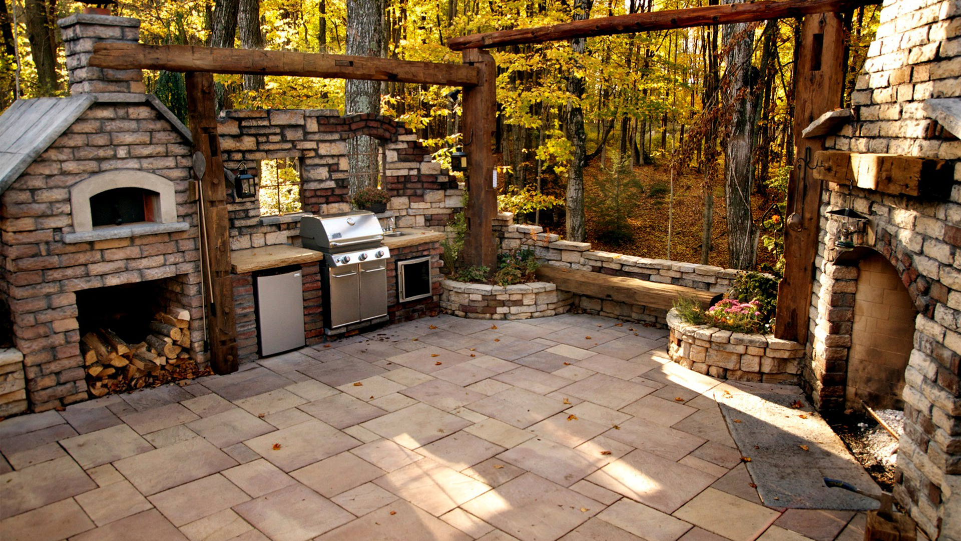 Construction of BBQ & Wood Oven