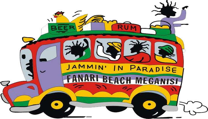 Jammin in Paradise - Beach Bar - Reggae bar - Cocktail bar - Sea Sports - Fanari Beach - Μεγανήσι - Λευκάδα
