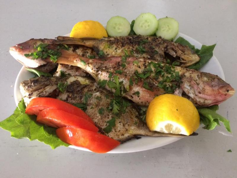 Plate fresh grill fish