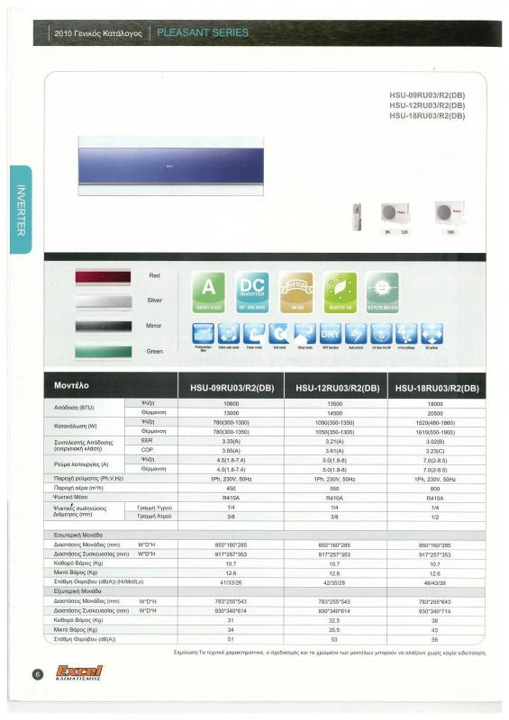κλιματιστικά HAIER inverter pleasant series.